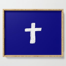 Christian Cross Chalk version Serving Tray