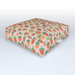 Painted Strawberries Outdoor Floor Cushion