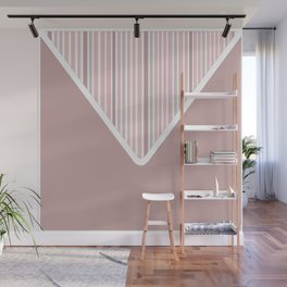 The Envelope: Solid + Stripe Wall Mural