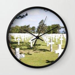 The Crosses at Omaha Beach, Normandy Wall Clock