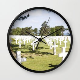 The Crosses at Omaha Beach, Normandy Wall Clock
