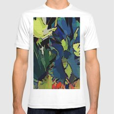 Garden Colors Mens Fitted Tee MEDIUM White