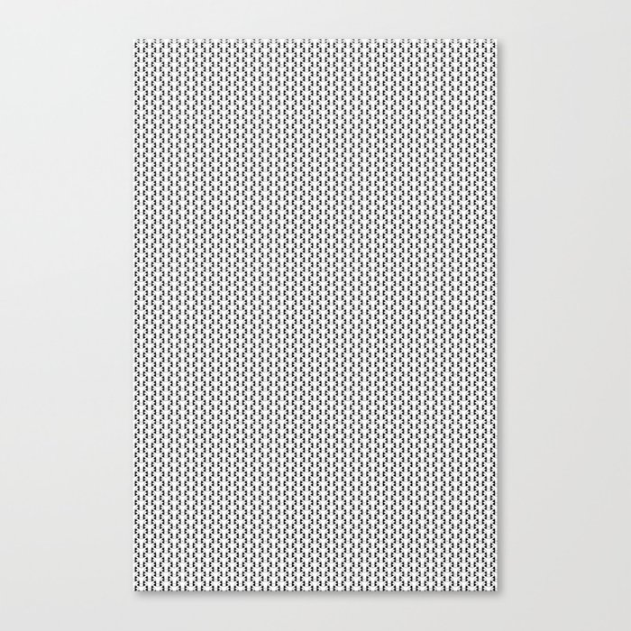 Black and White Basket Weave Shape Pattern 2 - Graphic Design Canvas Print