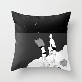 Jumping in Throw Pillow