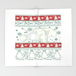 Hot rod christmas Throw Blanket