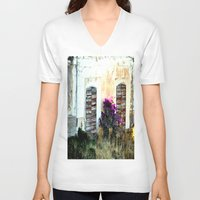 doors V-neck T-shirts featuring doors by  Agostino Lo Coco