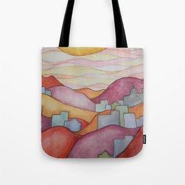 Colorful Hillsides Tote Bag