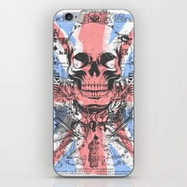 British flag with skull and bones iPhone Skin