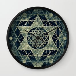 Sacred Geometry for your daily life- SRI YANTRA Wall Clock