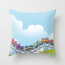 Rollercoaster ride Throw Pillow