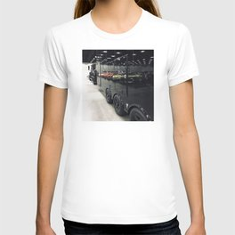 Colorful Cars Reflecting On Black Carrier Vehicle T-shirt