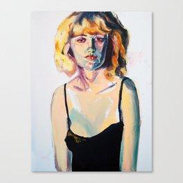 Portrait of Hannah Black Canvas Print