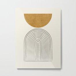 Arch Balance Gold Metal Print