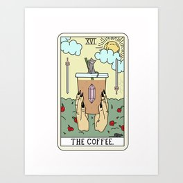COFFEE READING Art Print