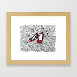 Rubby Slippers Framed Art Print