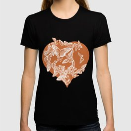 Valentine Heart with Butterflies T-shirt