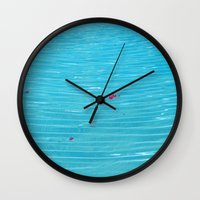 pool Wall Clocks featuring Pool by AlexinaRose
