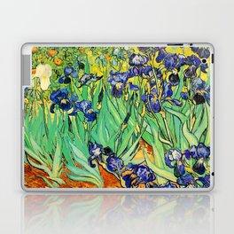 Purple Irises at St. Remy by Vincent Van Gogh Laptop & iPad Skin