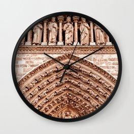 Notre Dame Mural Wall Clock
