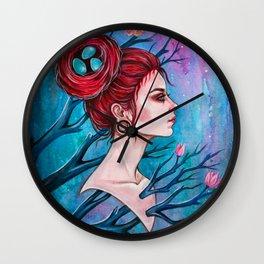 Lady April Wall Clock