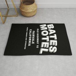 Psycho inspired Bates Motel logo Rug