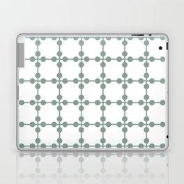 Droplets Pattern - Sage Green & White Laptop & iPad Skin