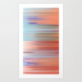 Pixel Sorting 47 Art Print
