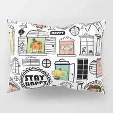 Pattern Stay Happy Animals Pillow Sham