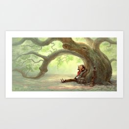 The Resting Traveler Art Print