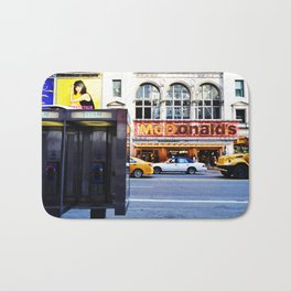 NYC Payphone McDonalds  Bath Mat