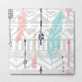 hipster pattern Metal Print