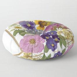 Pressed Flower Garden Floor Pillow