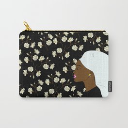 Walking by Flower Wall Carry-All Pouch