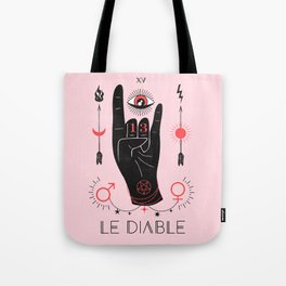 Le Diable or The Devil Tarot Tote Bag