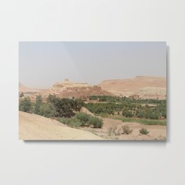 Ait-Ben-Haddou, in Ouarzazate province Metal Print