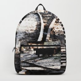 Abandoned Rail Tracks Backpack
