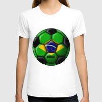 brasil T-shirts featuring Brasil Ball by kuuma