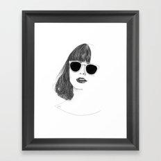 Hair Study #2 Framed Art Print