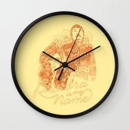 Phaedra is My Name - Burnt Orange Wall Clock