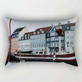 Nyhavn   Colourful Travel Photography   Copenhagen, Denmark Rectangular Pillow