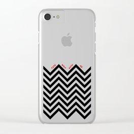 Black Lodge Dreams (Twin Peaks) Clear iPhone Case