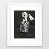 hitchcock Framed Art Prints featuring Hitchcock by Dano77