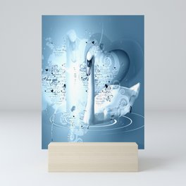 Schwanenpaar Mini Art Print