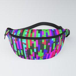Color TV Glitch - Digital Glitch Art Fanny Pack