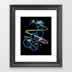 space fragmentation travel fig 4 Framed Art Print