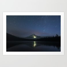 Lights on Mount Hood Art Print
