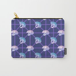 Lovely Geometric Pastel Cat Pattern Carry-All Pouch