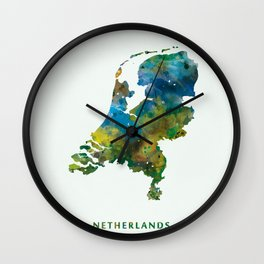 Netherlands Wall Clock