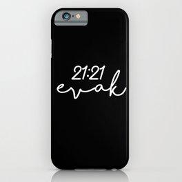 21:21 evak iPhone Case