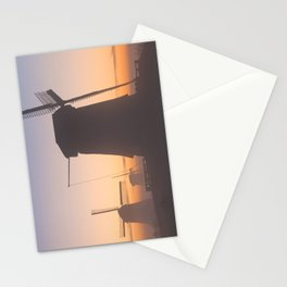 I - Traditional Dutch windmills in winter at sunrise Stationery Cards